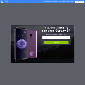 Win the new Samsung S9 NOW!