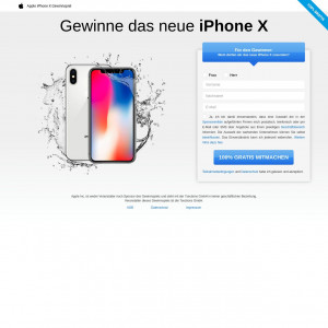 iPhone X Sweepstakes - DACH - DOI - Incentive