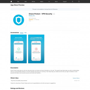 US - Onavo Protect - VPN Security - iOS