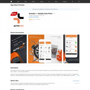 Autodoc — Quality Auto Parts (iPhone 9.0+, iPad 9.0+) FR - Non incent