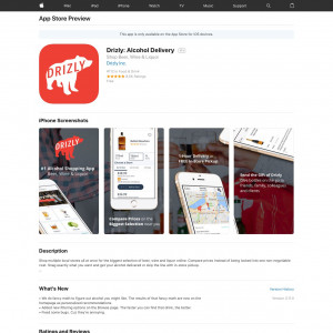 US - Drizly: Alcohol Delivery - iOS