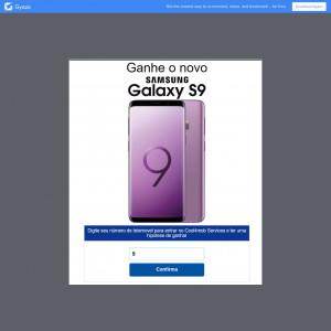 Ganhe o novo Samsung S9!