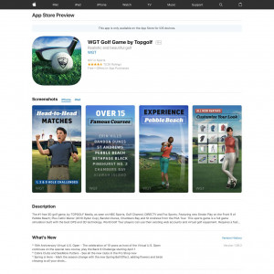 US - WGT Golf Game by Topgolf - iOS