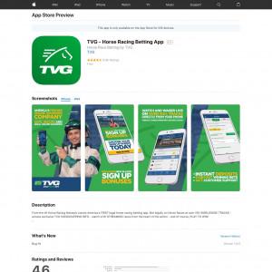 US - TVG - Horse Racing Betting App - iOS