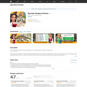 My Cafe: Recipes & Stories - iPhone, iPad, iPod --- CN (H)