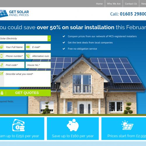 (2622) [WEB] Get solar panel prices - UK - CPL