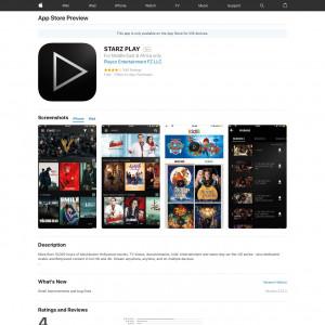 SA - STARZ PLAY - iOS