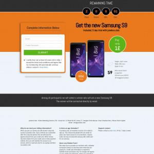 Samsung S9 + Prelander - CC Submit - UK