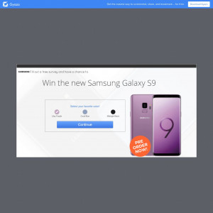 Win the NEW Samsung S9!