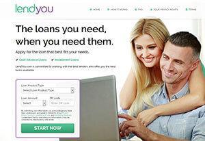 Lendyou.com Landing Page