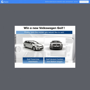 Win a new VolksWagen Golf!