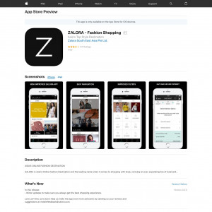 SG - ZALORA - Fashion Shopping - iOS