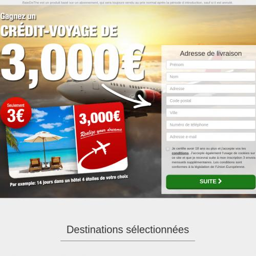 (2710) [WEB+WAP] Travel card 3000€ for 3€ - FR - CPA - cc submit