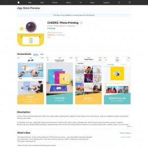 CHEERZ: Photo Printing [iOS]UK