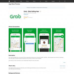 Grab - Ride Hailing App (API) (iPhone 9.0+) MM - Non incent