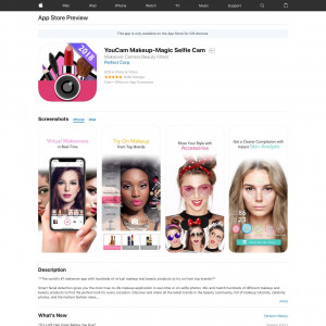 YouCam Makeup (iPhone, iPad) US - Non incent