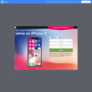 Vinne en iPhone X!
