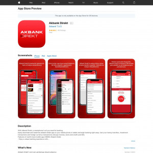Akbank Direkt (API) (iPhone 9.0+, iPad 9.0+) TR - Non incent