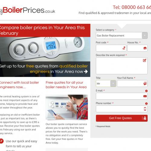 (2624) [WEB] My boiler prices - UK - CPL