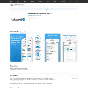 ZA - Takealot.com Shopping App - iOS