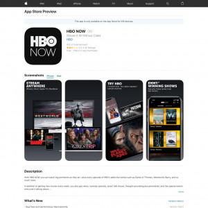 HBONow - CPE - iOS - US [US]