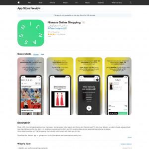Nisnass Online Shopping - iOS - SA - CPI