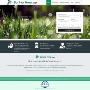 SpringTimeCash.com [PERSONAL LOAN] - CPA - Full Form - US