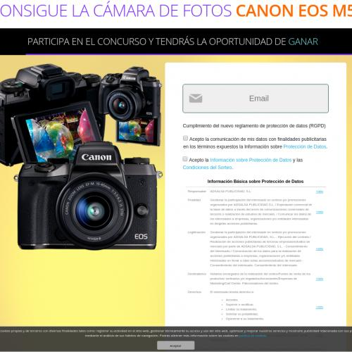 ES - Gana una Cámara de Fotos CANON EOS M5 - Fabricadepremios - SOI