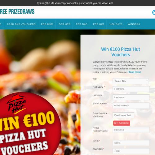 FreePrizeDraws Pizza Hut Voucher [IE]