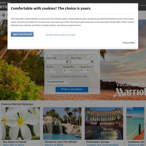 Vacations by Marriott US - Paid  package