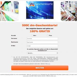 Drugstore 500 EUR Voucher (DE)