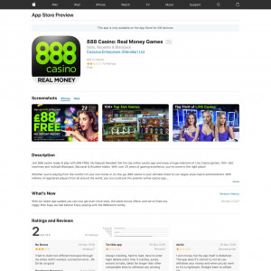 888 Casino - Spielautomaten, Blackjack, Roulette (API) (iPhone 7.0+, iPad 7.0+) FI - Non incent