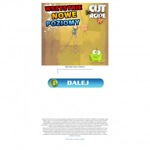 [MOB] Jamster Cut The Rope 1 click /PL [Orange, Plus, T-Mobile, Play]
