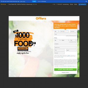 New Zealand (NZ) - OfferX - $1000 for PaknSave or Glassons