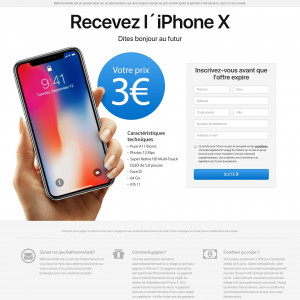 iPhone X White - CC submit - FR - SWEEP - Responsive
