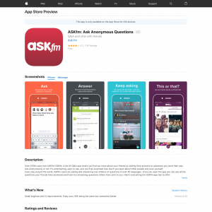 ASKfm: Questions Anonymes