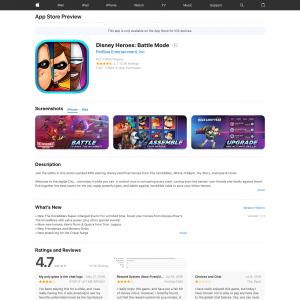 Disney Heroes (iPhone 10.0+, iPad 10.0+) US - Non incent