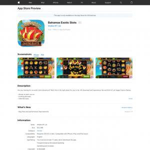 Bahamas Exotic Slots (iPhone 9.0+, iPad 9.0+) GB - Non incent