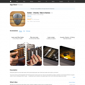 Guitar (CPE) (iPhone 9.0+) GB - Non incent