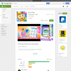 Coin Pop - CPA  (Android 4.1+) US - Non incent