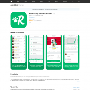 Rover—Dog Sitters & Walkers (iPhone 9.0+, iPad 9.0+) CA - Non incent