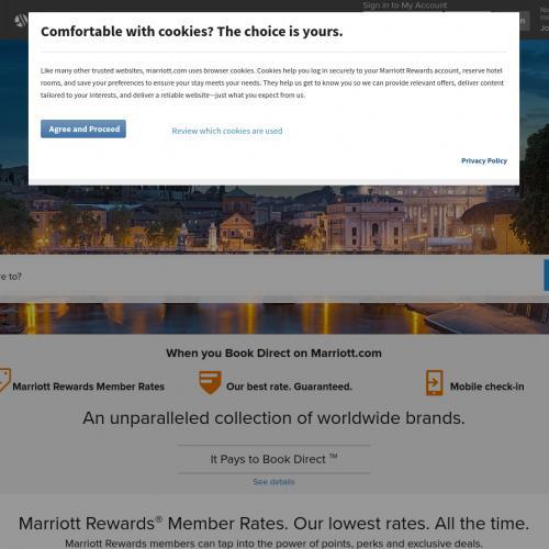 Marriott hotels International - Paid hotel booking