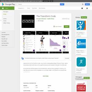 The Transform Code (Android) NL - Non incent