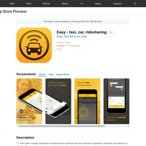 Easy - taxi, car, ridesharing (iPhone 9.0+, iPad 9.0+) MX - Non incent [PAUSE IN 24H]