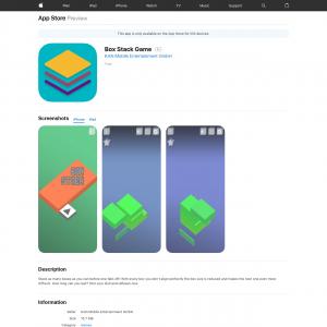 Box Stack Game - iOS - BZ