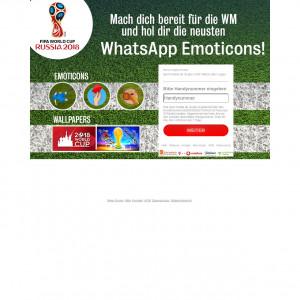 Mach dich bereit för die WM und hol dir die neusten WhatsApp Emoticons!