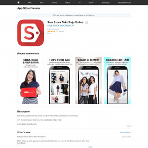 Sale Stock (API) (iPhone 8.0+, iPad 8.0+) ID - Non incent