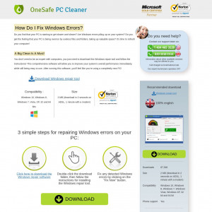 OneSafe PC Cleaner CPI CA