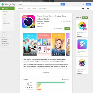 Photo Editor Pro – Sticker, Filter, Collage Maker (Android 4.0.3+) JP - Non incent