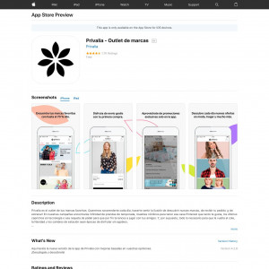 Privalia - Outlet de marcas (iPhone 9.0+, iPad 9.0+) BR - Non incent [PAUSE IN 24H]